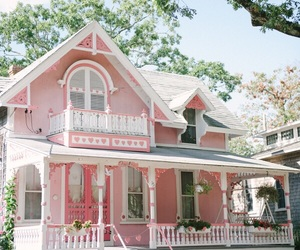 Houses and pink image