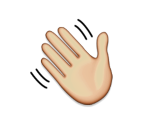 hand, ios, and emoji image