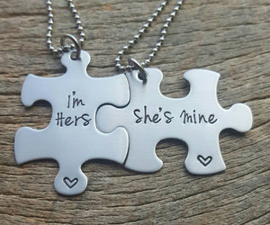 lesbian, necklaces, and puzzle image