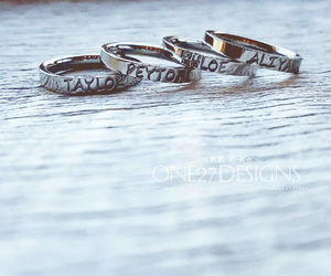 rings, wedding bands, and personalized rings image
