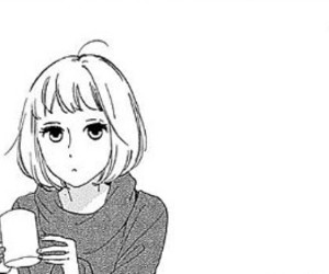 girl, manga, and monochrome image