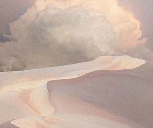 cloud, desert, and pale image