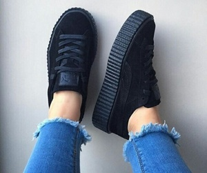 shoes, black, and puma image