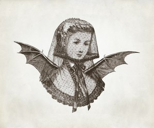 veil, vintage, and wings image