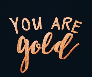 gold, quotes, and words image