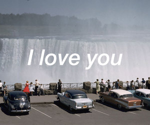 falls, I Love You, and water image