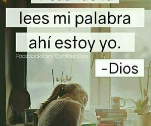 dios, biblia, and frases+cristianas image