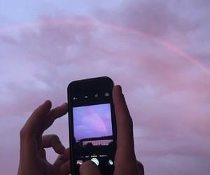 sky, purple, and iphone image