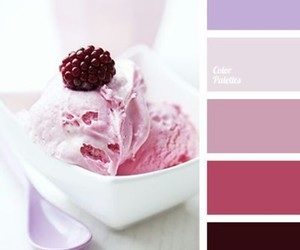 color palette and food image