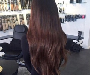 hair, brunette, and beauty image