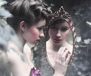 mirror, girl, and magic image