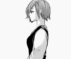 anime girl, monochrome, and manga caps image
