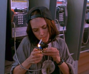 winona ryder, cigarette, and grunge image