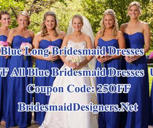 weddingdress, women fashion, and blue bridesmaid dress image