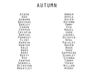 autumn and names image