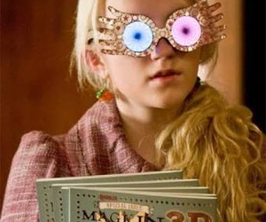 luna lovegood, harry potter, and ravenclaw image