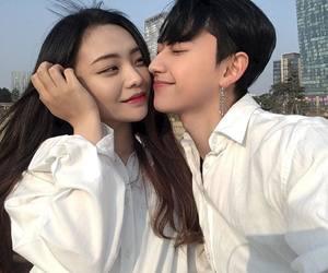 ulzzang, couple, and asian girl image