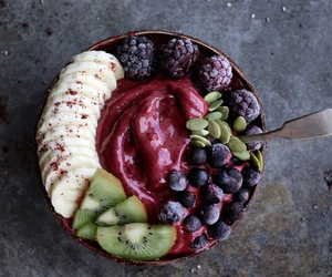 fruit, food, and smoothie bowl image