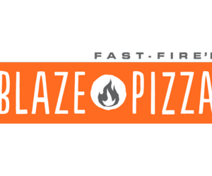 Logo and blaze pizza image