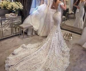 white and weeding dress image