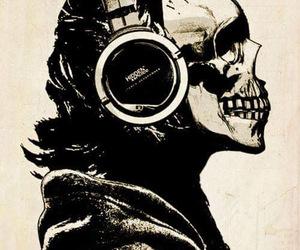 earphones and skull image