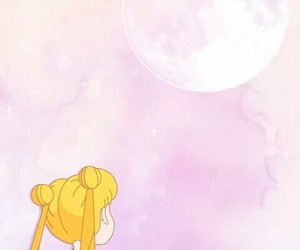 wallpaper, sailor moon, and pink image