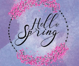 flowers, watercolor, and hello spring image