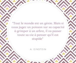 einstein, french, and quote image