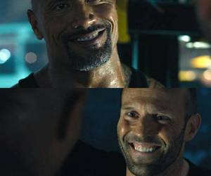 Jason Statham, dwayne the rock johnson, and fast&furious image