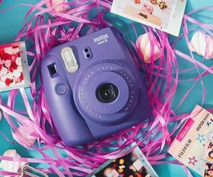 camera, purple, and violet image