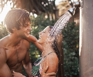cool, summer, and couple image