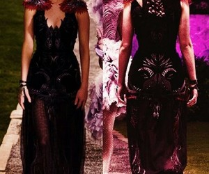 dress, wedding dress, and the hunger games image