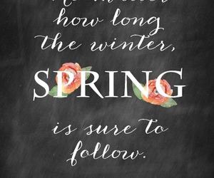 spring, winter, and quotes image