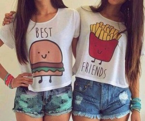 best friends, girl, and friendship goals image