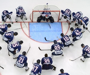 goal, players, and hockey image