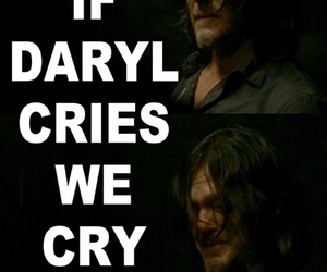 crying, the walking dead, and twd image