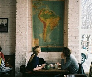 cafe, map, and travel image