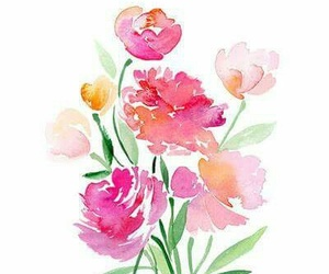 flowers, art, and watercolor image