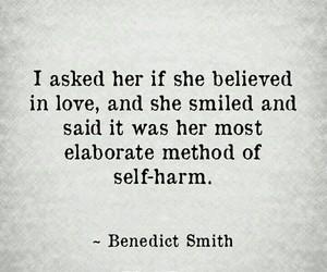 self-harm, smile, and love image