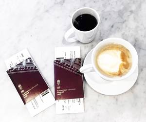 coffee, marble, and travel image