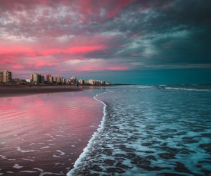 city, beach, and blue image