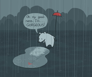 funny, gorgeous, and rain image
