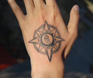 compass, follow, and hand image