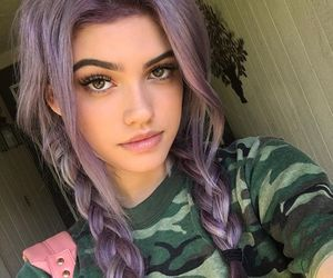 Amazing Girl, Hair, And Purple Image Good Ideas