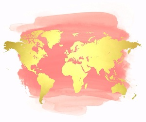 alternative, pink, and world map image