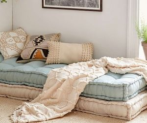 blue, home, and pillows image
