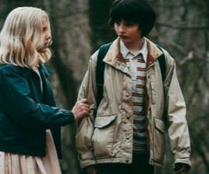 stranger things, eleven, and finn wolfhard image