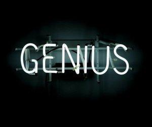genius, neon, and aesthetic image