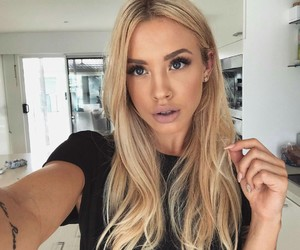 australian, blonde, and hairstyle image