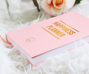 book, pink, and planner image